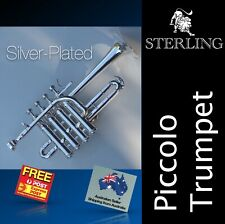 Silver Plated Sterling Pro  Bb Piccolo Trumpet • SWTR-377S • Free Express Post •
