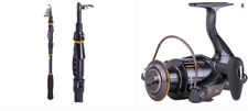 Sougayilang Fishing Telescopic 1.8M & 2.4M 2 Rod and WQ2000 Spinning Reel Combo