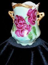 """Carmen Antique Handpainted Vase 4"""" H"""