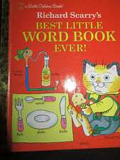 LGB Little Golden Book Richard Scarry's Best Little Word Book Ever  HB 1992 EUC