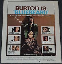 BLUEBEARD 1975 ORIGINAL 10x12 MOVIE POSTER! SEXY RAQUEL WELCH & JOEY HEATHERTON