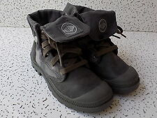 Palladium Women's Baggy fold down Ankle Boots Olive Drab Size 6.5 (euro 37.5)