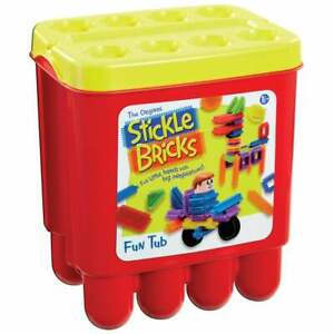 Stickle Bricks Fun Tub - Assorted  Interlocking Building Bricks