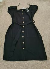 ☆☆ Select Fashion Black Bardot Dress With belt  Size 10 New With Tags ☆☆