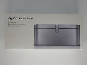 Genuine Dyson Supersonic Hairdryer Storage Case Platinum Colored Finish OPEN BOX