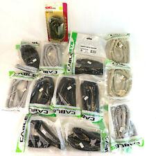 Lot (14) 25' Coiled Handset Telephone Cord - Black Gray Beige VTG