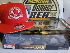 James Hinchcliffe 1:18 diecast Indycar signed , cap signed by Hinch and Wickens