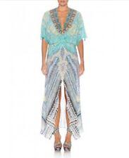 Camilla Silk Topkapi Tread Split Front Twist Dress Size 2 AUS 10 US 8