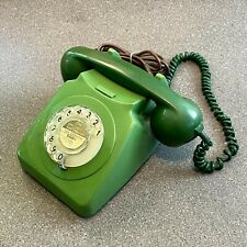 Vintage Green BT 746 Rotary Dial Telephone, Un-Converted, 1980s Phone Prop Retro