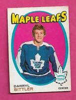 1971-72 OPC # 193 LEAFS DARRYL SITTLER 2ND YEAR VG  CARD (INV# D0237)