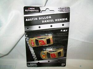 DANIEL HEMRIC BASS PRO SHOPS & AUSTIN DILLON DOW NASCAR AUTHENTICS DIECAST SET