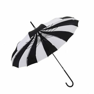 Black And White Umbrellas Women Big Large long Handle Gothic Classical Windproof