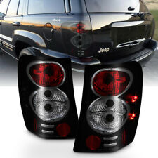 Black Smoke 1999-2004 Jeep Grand Cherokee Tail Lights Brake Lamps Set Left+Right