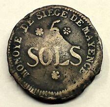 CONVENTION 5 SOLS AN 2 1793 MONNAIE DE SIÈGE DE MAYENCE