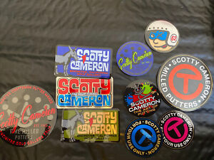 NEW Scotty Cameron STICKER PACK 10ct CIRCLE T Peace PAINTER Donkey Race Gallery