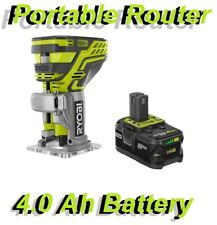 RYOBI One P601 18-Volt Lithium Ion Cordless Palm Trim Router with 4.0 Ah Battery