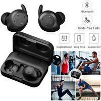 Bluetooth Earpiece Wireless Stereo Headset Headphone Double Earbuds handsfree