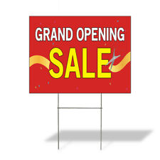 Weatherproof Yard Sign Grand Opening Sale A Advertising Printing Lawn Garden