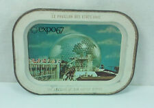 1967 MONTREAL CANADA EXPO 67 WORLD'S FAIR THE PAVILION OF THE UNITED STATES TRAY