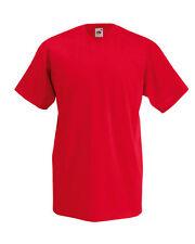 Fruit of the Loom Patternless V Neck T-Shirts for Men