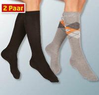 2er Pack Damen Kniestrümpfe Socken Hoher Baumwollanteil Größen: 35-42 Öko-Tex