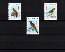 PHILIPPINES - 1969 - BIRDS - WOODPECKER - LORIKEET - MINIVET - 3 X MINT SINGLES!