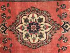 """Vintage hand knotted wool rug, mat, 2'3"""" x 1'6"""""""