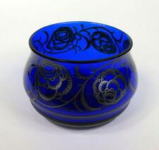 Vase mit Silber Overlay um 1900 signiert