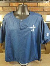 Vintage Houston Astros MLB Baseball STARTER Pullover Warmup Jacket Mens Size XL