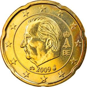 [#830020] Belgium, 20 Euro Cent, 2009, Brussels, MS, Brass, KM:278