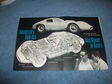 "1963 Maserati Tipo 151 Vintage Tech Info Article ""Has Speed to Spare"""