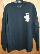 Men's Riot Society Black L/S Graphic Tee Bear W/ Pink Donut Sprinkles size Large