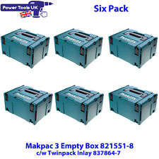 Makita Six Pack 821551-8SP Makpac Connector Case Type 3 c/w 837864-7 Inlay