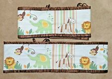 Breathable Baby Jungle Animals Pattern Unisex Boys Girls Mesh Crib Liner Bumper
