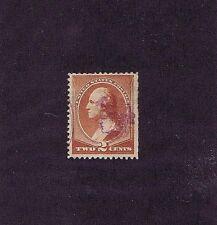 SC# 210 USED 2 CENT 1883 PURPLE ~ INDIAN HEAD ~ FANCY CANCEL