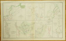 AUTHENTIC CIVIL WAR MAP ~ PETERSBURG VIRGINIA ~ ATLANTA CAMPAIGN -1864
