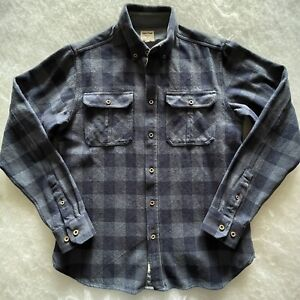 James Pringle Casual Wear Men's Warm Winter Cotton Blue Long Sleeve Shirt Size S