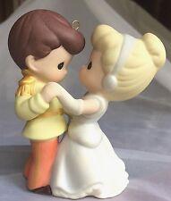 🎀 Cinderella+Her Prince Precious Moments Hallmark Disney 2008 Ornament New 8ava