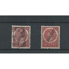Ned. Indie D25  VFU & MH/ongebr  CV 32,5 €