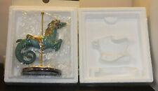 "Treasury Of Carousel Art - Franklin Mint Carousel Horse -Rare ""Sea Horse"" Nos"