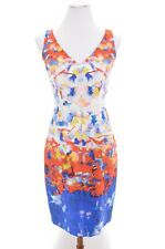 Nwt $395 Milly 100% Silk Watercolor Tie Dye Print Sheath Dress Art-to-wear Sz 2