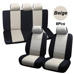 9PCS Rear Back Seat  Waterproof Composite Sponge Car Seats Protectors