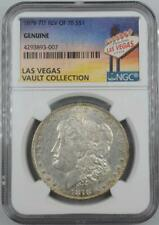 1878 7TF Morgan Dollar NGC Genuine Las Vegas Vault Collection Home of Binion