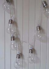 LED 10 VIntage Retro Light Bulb Fairy Light Garland String Chain  - Battery