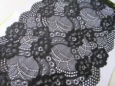 Elegante Spitze Schwarz elastisch 0,5 Meter 18cm Breit  Borte Nur 1€/0,5m