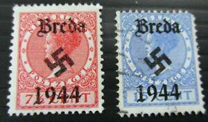 Germany, THIRD REICH STAMP BREDA, NETHERLANDS 1944 STAMP WW11 WW2