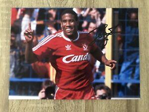 John Barnes Liverpool Signed Photo Football