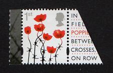 2015 SG 3717 1st 'Poppy' (Gummed) from 'Great War 1915' Prestige Bk PSB DY13