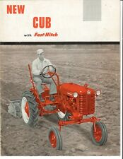 Ih Mccormick Farmall Cub Tractor With Fast Hitch Sales Brochure Booklet 55 56 57