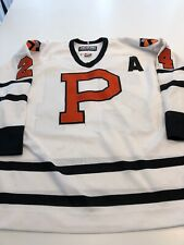 Game Worn Used Princeton Tigers Hockey Jersey Size 50 #24 Mason